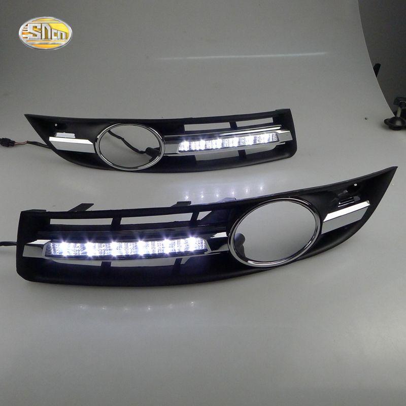 SNCN feux de jour pour VW Volkswagen Passat B6 2007 2008 2009 2010 2011 LED DRL feux de brouillard