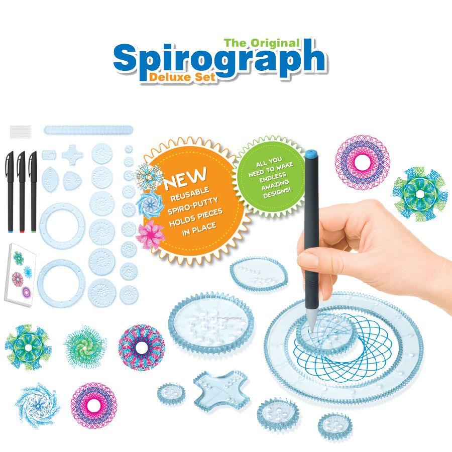 Spirograph Dessin jouets set 20 Accessoires Creative Tirage Spirale S'assemblent Engrenages et Roues, Creative Dessin Pour enfants