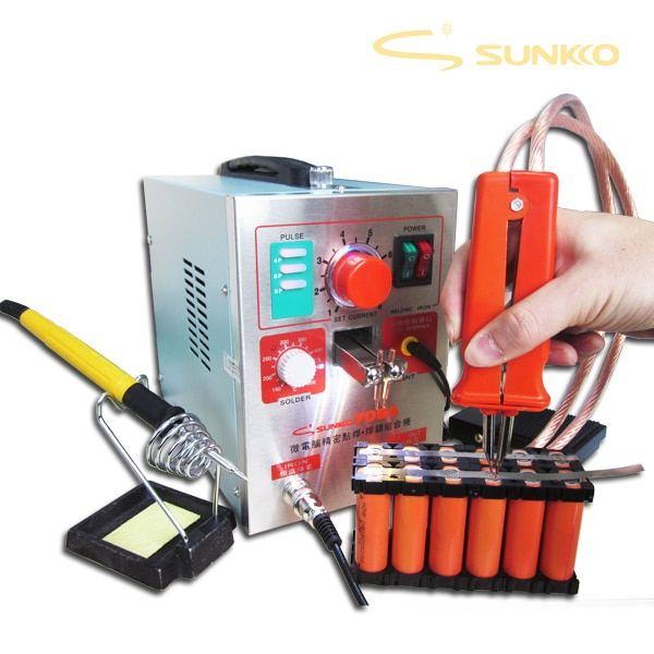 SUNKKO 1.9kw LED Pulse Battery Spot Welder ,709a, Spot Welding Machine for 18650 battery pack, Spot welding 220V EU,110V US