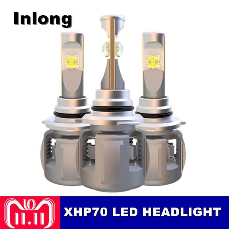 Inlong XHP70 Chip X70 H4 H7 9005 9006 Car LED Headlight Bulbs H11 H9 H8 D1S D3S D2S D4S 120W 15600LM Headlamp Fog Lights 6000K