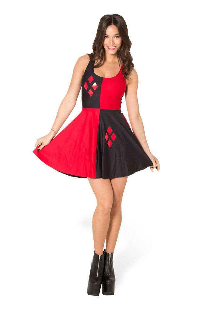 Grande taille Femmes Adultes Comics Harley Quinn Costume Déguisement Harlyquinn Cosplay Halloween Costumes pour Femmes Clown Robe