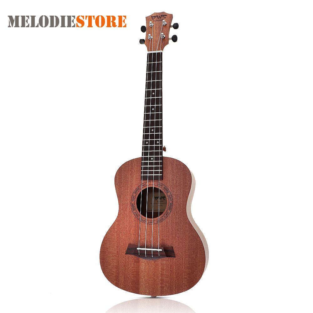 26 Inch 18 Fret Tenor Ukulele Acoustic Cutaway 4 <font><b>String</b></font> Guitar Mahogany Wood Ukelele Hawaii Guitarra Musical Instruments