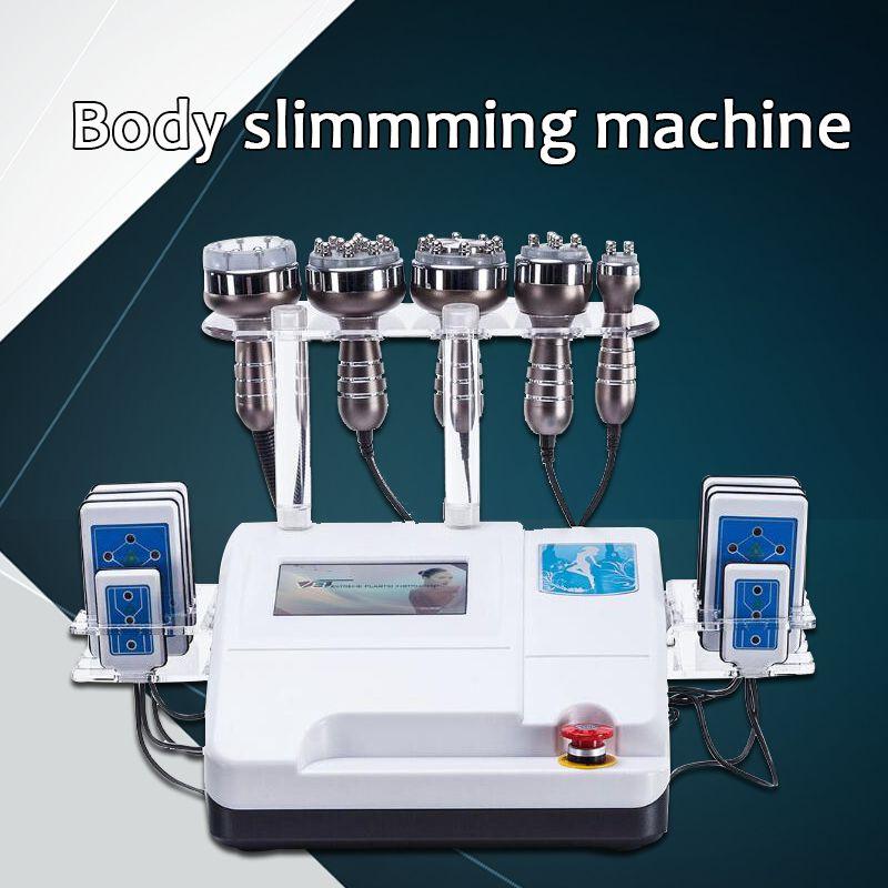 2019 neue Neueste modell 6in1 RF Radio Frequenz Vakuum lipo Laser Kavitation Körper Shaper Gewicht Verlust Abnehmen Maschine SPA