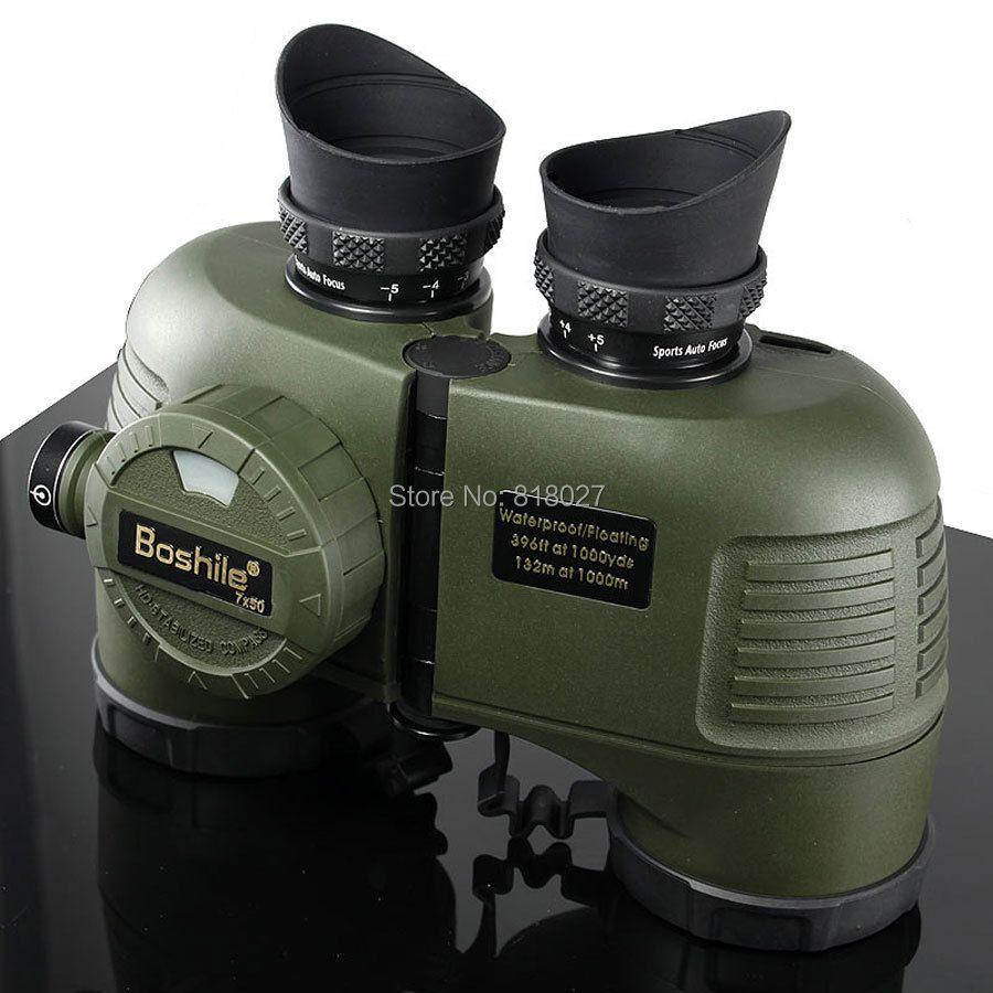 Military Boshile 7X50 marine Ferngläser entfernungsmesser Kompass HD teleskop Wasserdichte Stickstoff navy binoculo profissional 4 farben