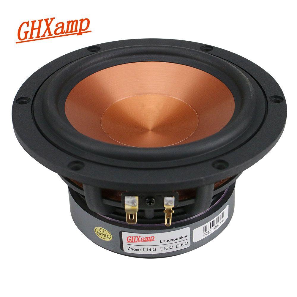 GHXAMP 5,25 zoll Mid-Bass Lautsprecher Einheit 4Ohm 40 W Heimkino Hifi Mitten Woofer Lautsprecher Alumina Keramik 1 PC