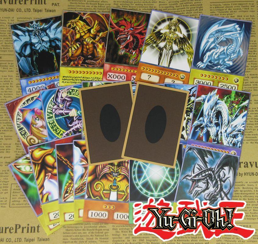 20 pièces Yu-gi-oh! Dessins animés Style cartes sombre magicien Exodia obélisque Slifer Ra Yugioh DM classique Orica Proxy carte enfance mémoire