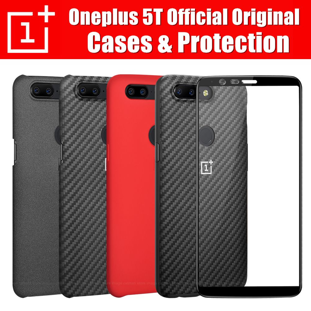 oneplus 5t case official 100% original oneplus company back shell sandstone carbon cover case for one plus 5t oneplus 5t coque