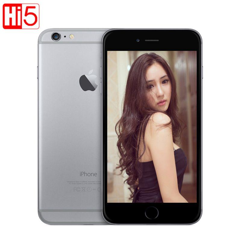 Débloqué Apple iPhone 6 WI-FI 4.7 ''écran 16G/64 GB/128 GB ROM double coeur IOS 8MP caméra 1080P 4K vidéo LTE téléphone mobile