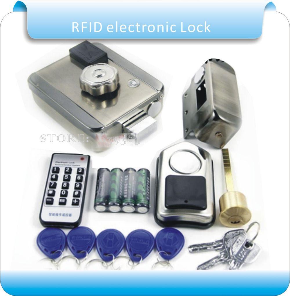 Batería Seca envío libre RFID Cerraduras electrónicas de Seguridad Anti-robo de Bloqueo Seguro de Bloqueo Múltiple con caja de la batería
