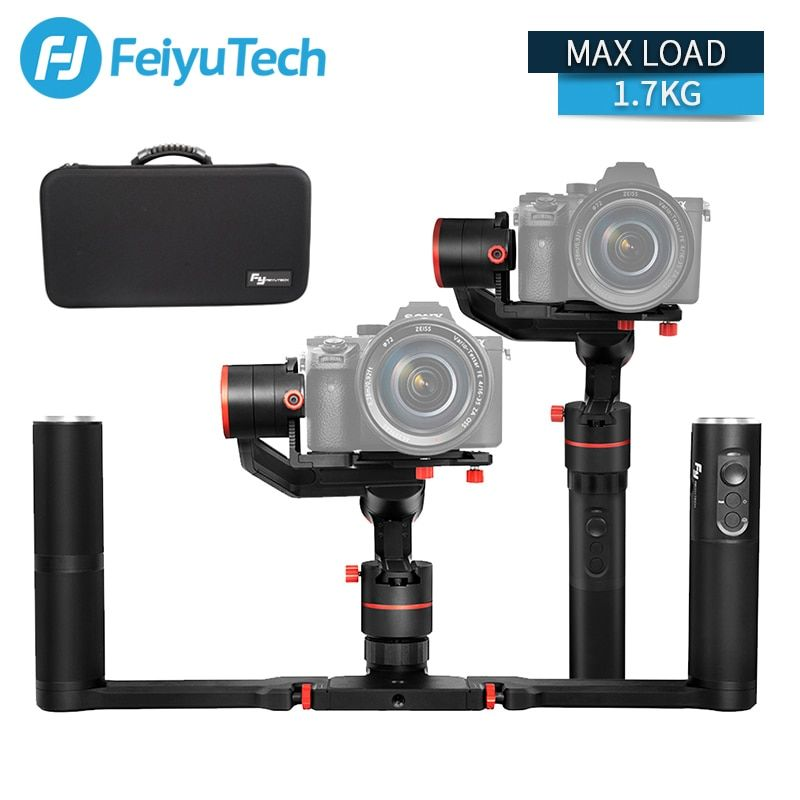 FeiyuTech a1000 Gimbal Stabilizer Handheld for NIKON SONY CANON Mirrorless Camera Gopro Action Cam Smartphone 1.7kg Payload