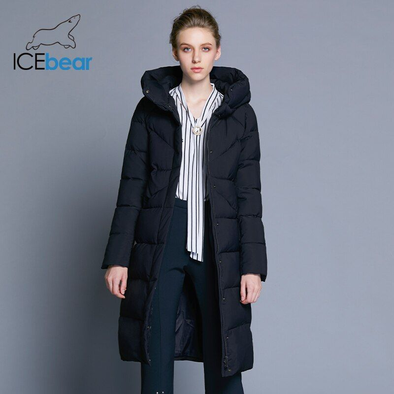 ICEbear 2018 new high quality women's winter jacket simple cuff design windproof warm female coats fashion brand parka GWD18150