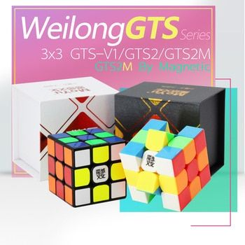 Moyu WeiLong GTS V2 3X3X3 Magnetic Cube Magic Cube 3x3x3 Speed Cube Puzzle Weilong GTS 2M/GTS2 M Weilong GTS2M For Children Toy