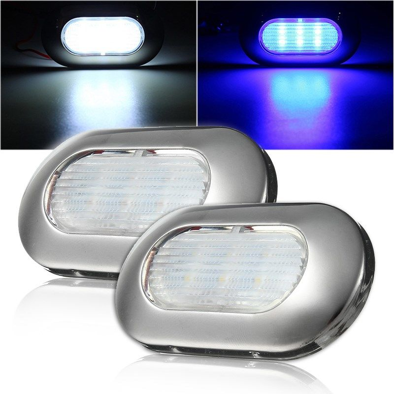 2835 Marine Ship Lights Yacht LED Light 12V White/Blue Waterproof Stainless Steel Led Boat Navigation Lights