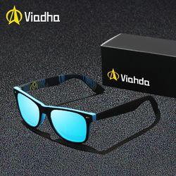 Viahda 2019 Baru Rivet Polarized Kaca Mata Pria Sun Kacamata Merek Klasik Polaroid Lensa Vintage Warna Oculos Pria