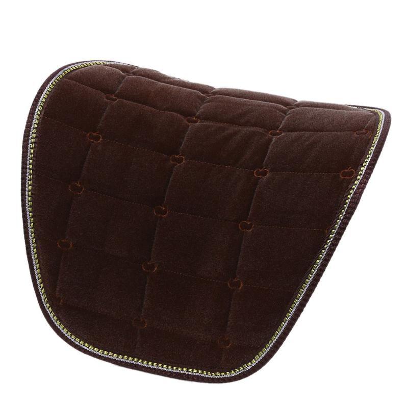 1Pcs Car Seat Cushion Waist Back Support Pillow Pad Winter Warm Soft Car Office Home Flocking Waist Support Cushion Back Warm