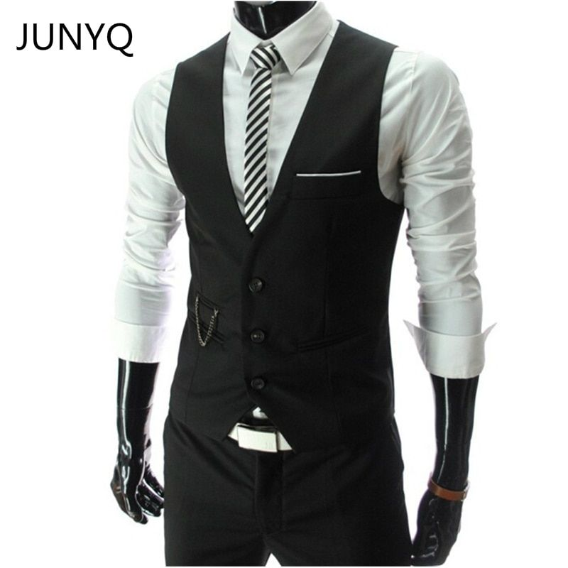 2018 New Arrival Dress Vests For Men Slim Fit Mens Suit Vest Male Waistcoat Gilet Homme Casual Sleeveless Formal <font><b>Business</b></font> Jacket