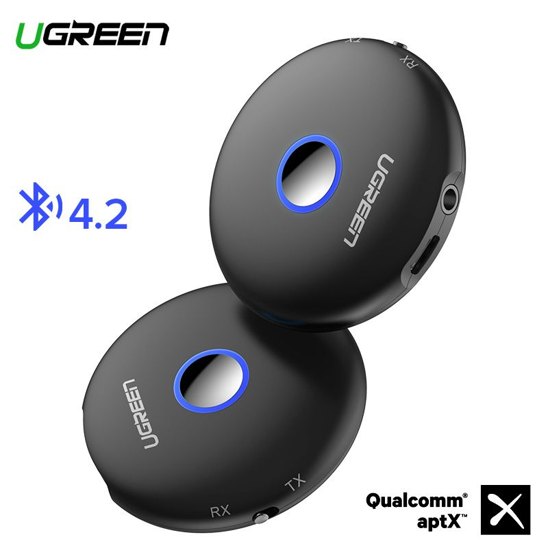 Ugreen Bluetooth 4.2 Transmitter Receiver aptx Adapter 3.5mm jack Audio For TV Headphones PC Music Receptor AUX Bluetooth 3.5 mm