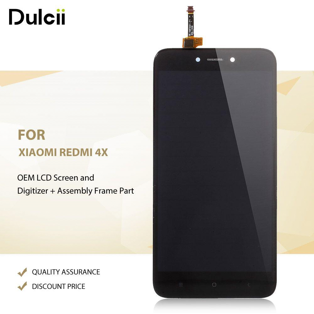 Dulcii для Xiaomi Redmi 4x OEM ЖК-дисплей Экран и планшета + сборки Рамки часть для xiomi Redmi 4x ЖК-дисплей Экран ЖК-дисплей s черный