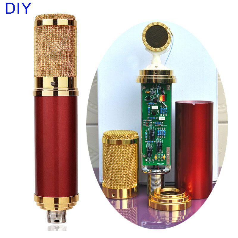 DIY Gold Professionelle 34mm Kapseln Musik Audio Studio Sound Aufnahme Kondensator Mikrofon