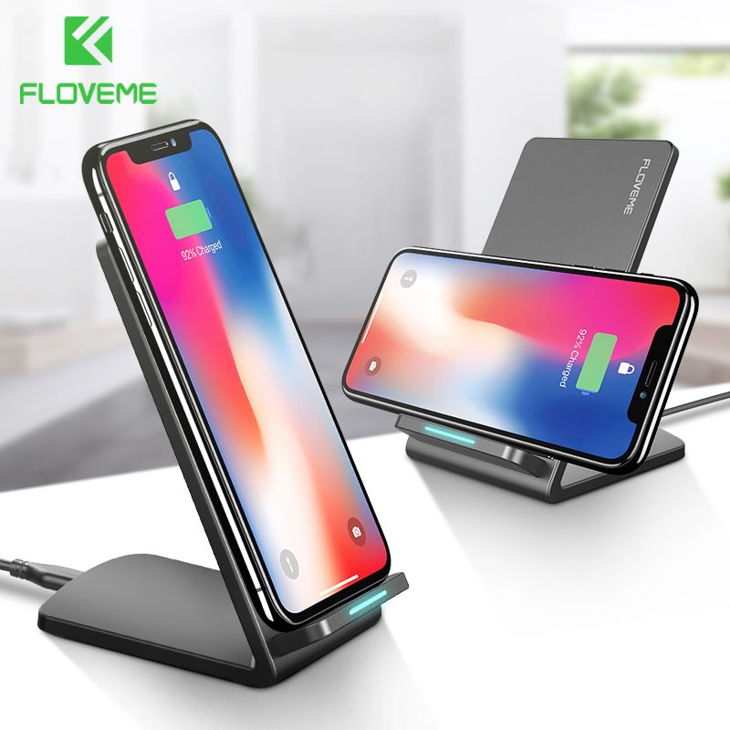FLOVEME 10W Qi Wireless Charger For iPhone X 8 Plus For Samsung Galaxy S8 S9 S7 <font><b>Edge</b></font> Fast Charger Wireless Charging Dock Station