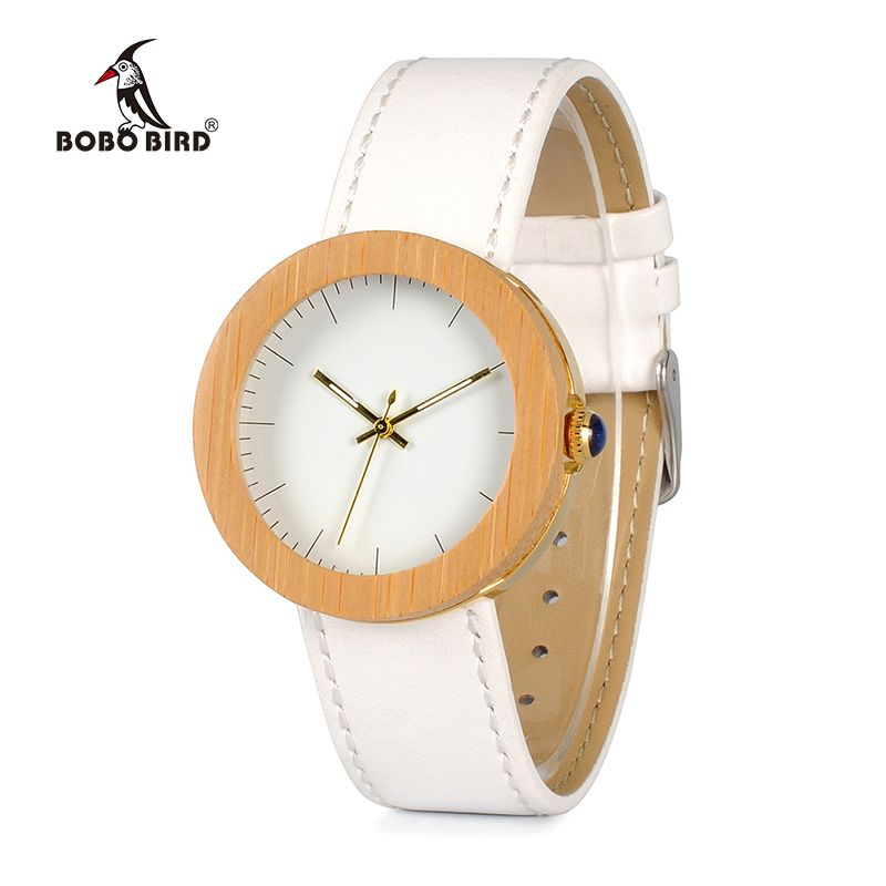 BOBO BIRD Women Bamboo Watches Montre Femme Lady Japan Movement Quartz Wristwatches relogio feminino C-J27 DROP SHIPPING