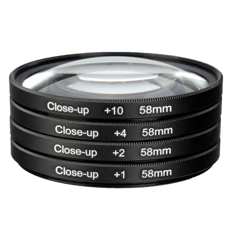 58mm Camera Macro Close Up Filter Lens Kit +1 +2 +4 +10 for Canon EOS 700D 650D 600D 550D 500D1200D 1100D 100D Rebel T5i T4i Len
