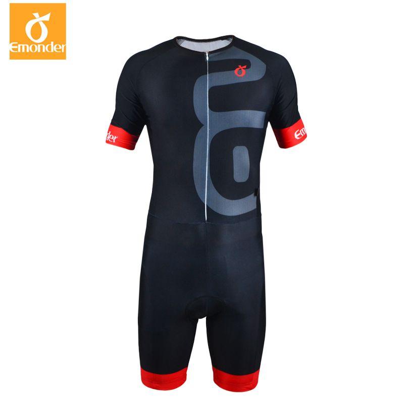 EMONDER Triathlon Radfahren Jersey Schnell Trocken Ärmelloses Radfahren Skinsuit Bike Jersey Kleidung Für Schwimmen Laufen Reiten