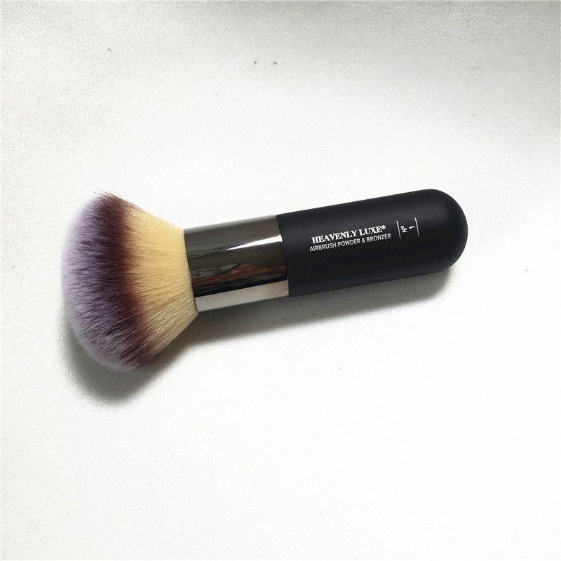 Céleste Luxe Aérographe Poudre et Bronzer #1-Grand Moelleux Visage Poudre Bronzer Brosse-Beauté Maquillage Pinceaux Blender