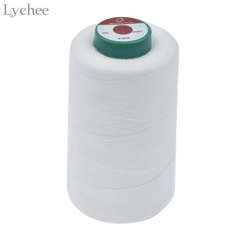 Lychee 3000 mt Lange 40 s/2 Wasserlösliche Nähgarn Bekleidung Nähzubehör Für Sticken DIY Handgemachten Nähgarn