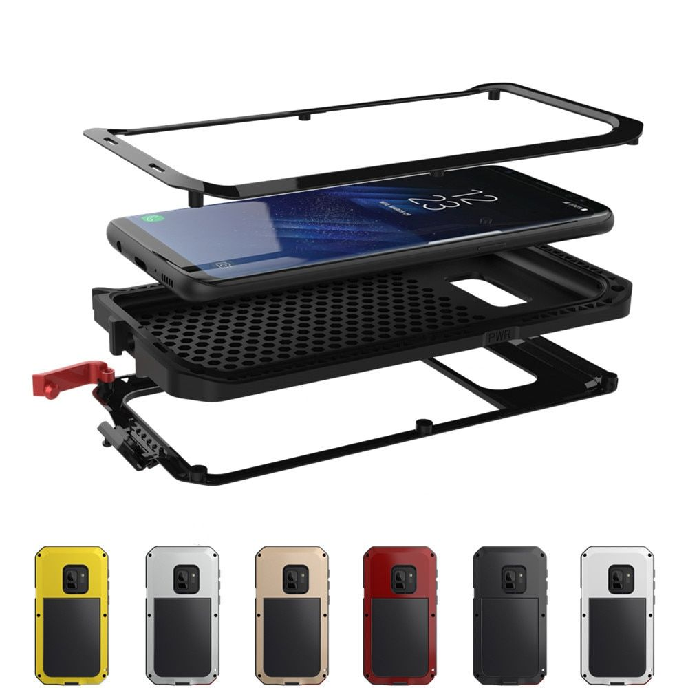 Luxe Armure Robuste En Métal de Protection étui pour samsung Galaxy S5 S6 S7 Note 9 4 5 8 Bord S8 S9 S10 Plus S10e Housse Antichoc
