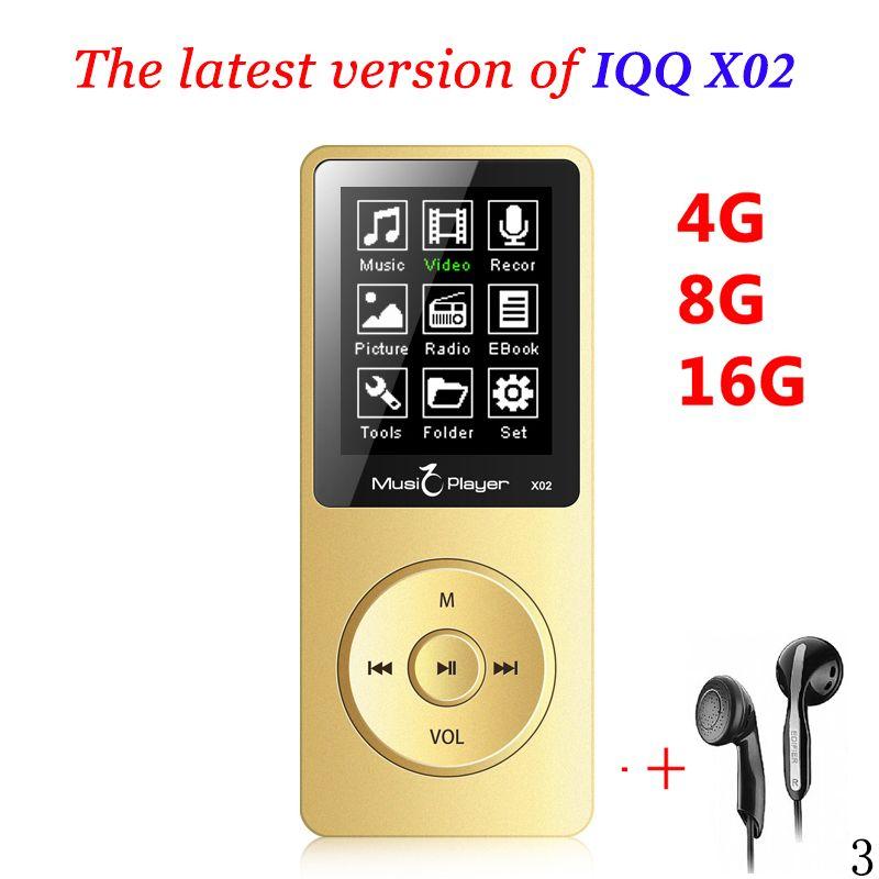 Mini MP3 player 16GB With Built-in Speaker USB MP3 <font><b>Music</b></font> Player with speaker mp-3 mp3-player IQQ X02 mp 4 16GB player walkman fm