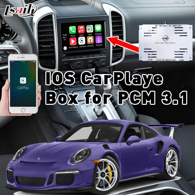 Plug & Play IOS CarPlaye Box für 2010-2016 Porsche Cayenne Panamera PCM3.1 mit Waze Siri Befehl Mirrorlink Gegenseitig Control