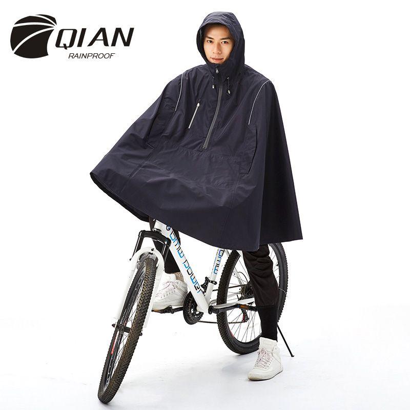 QIAN RAINPROOF Outdoor Fashionable Woman/Man Waterproof Cloak Cycle Rain Coat Multi-functional Climbing Hiking Travel Rain Cover