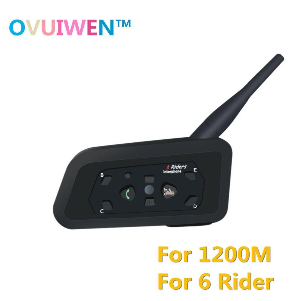 2018 Intercom Bluetooth Motorcycle Communicator Helmet Headset Interphone for 6 <font><b>Riders</b></font> Motorcycle Intercom Motorcycle moto