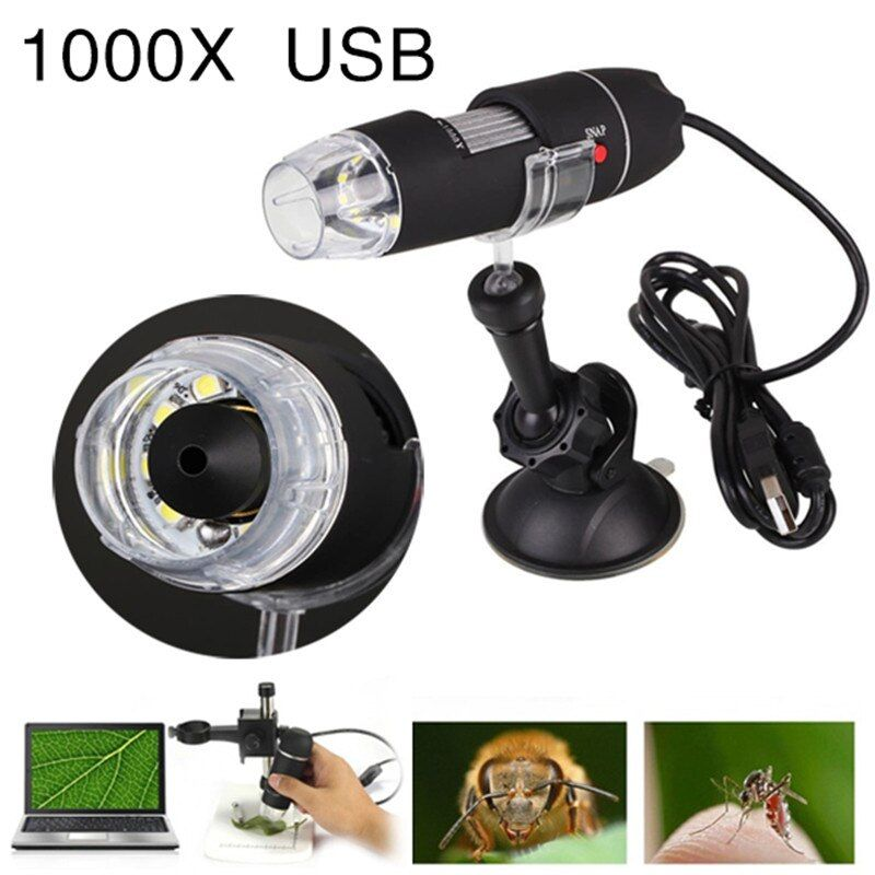 Portable 1000X 8 LED USB Microscope Camera Magnifier Electronic Digital Microscopes Suction Tool Endoscope Camera Microscopio