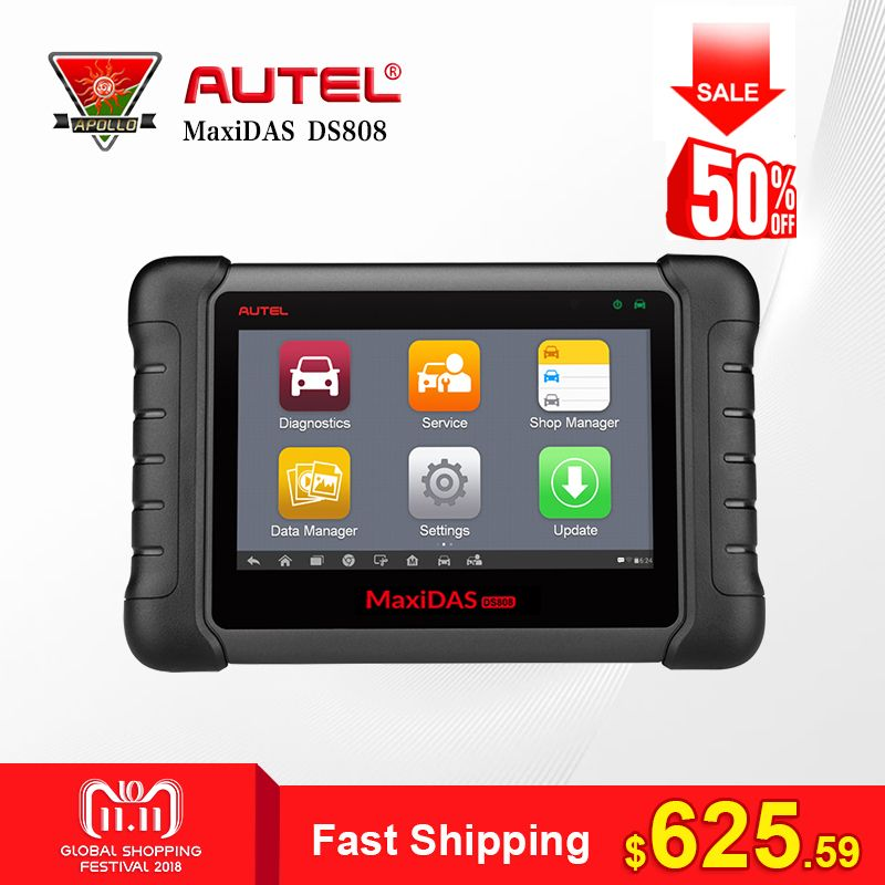 Autel MaxiDAS DS808 All System Car Diagnostic Tool Professional Auto OBD OBD2 Code Reader Scanner Update Online Similar as MS906