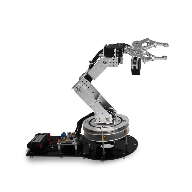 Industrie Roboter 550 Mechanische Arm 100% Legierung Manipulator 6 Grad Roboter arm Rack-kit mit 6 stücke LD-1501MG Servos + 1 legierung Greifer