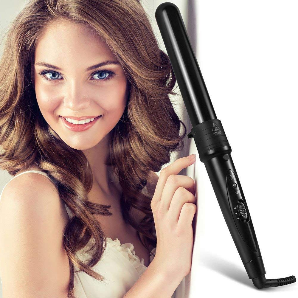 4 in 1 Tourmaline Ceramic Curling Iron 4 Parts Multi-Size Hair Curler Waver Interchangeable Curling Wand Hair Styling Tools Set