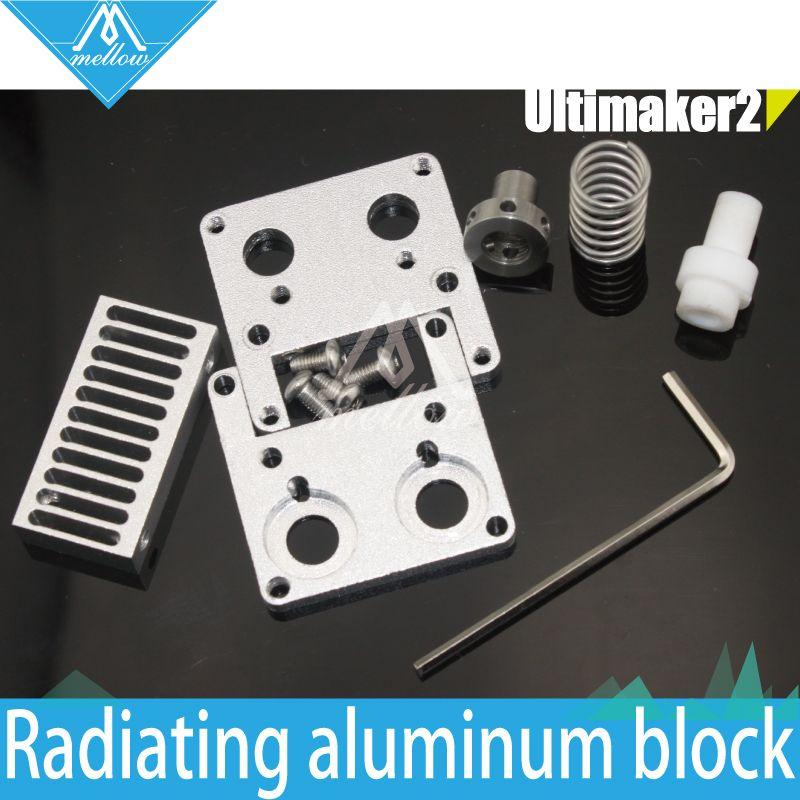 DIY 3D printer Ultimaker 2 + UM2 Extended+ Olsson block interchangeable nozzle PTFE Heat Sink kit for 1.75/3mm filament