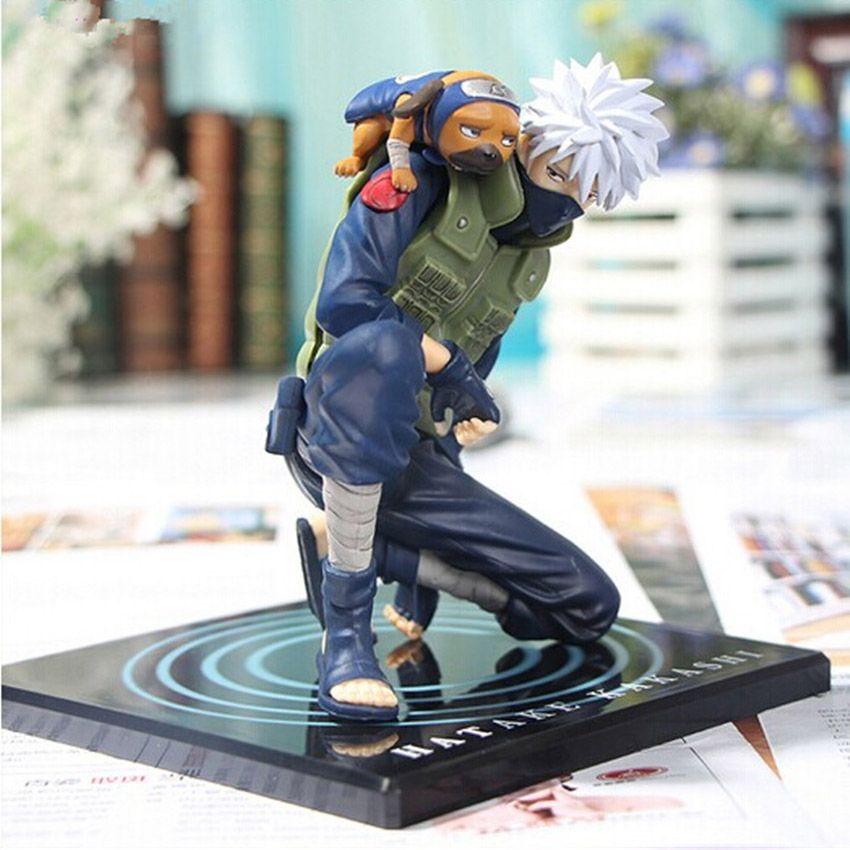 Anime Naruto Action Figures Hatake Kakashi Ver2 Japanese Anime Statue Figurine For Kids Collectible Toy 15cm Doll