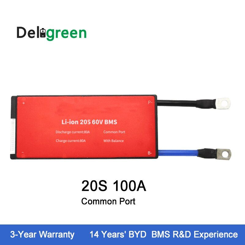 Deligreen 20S 100A 72V PCM/PCB/BMS for Li-PO LiNCM battery pack 18650 Lithion Ion Battery Pack