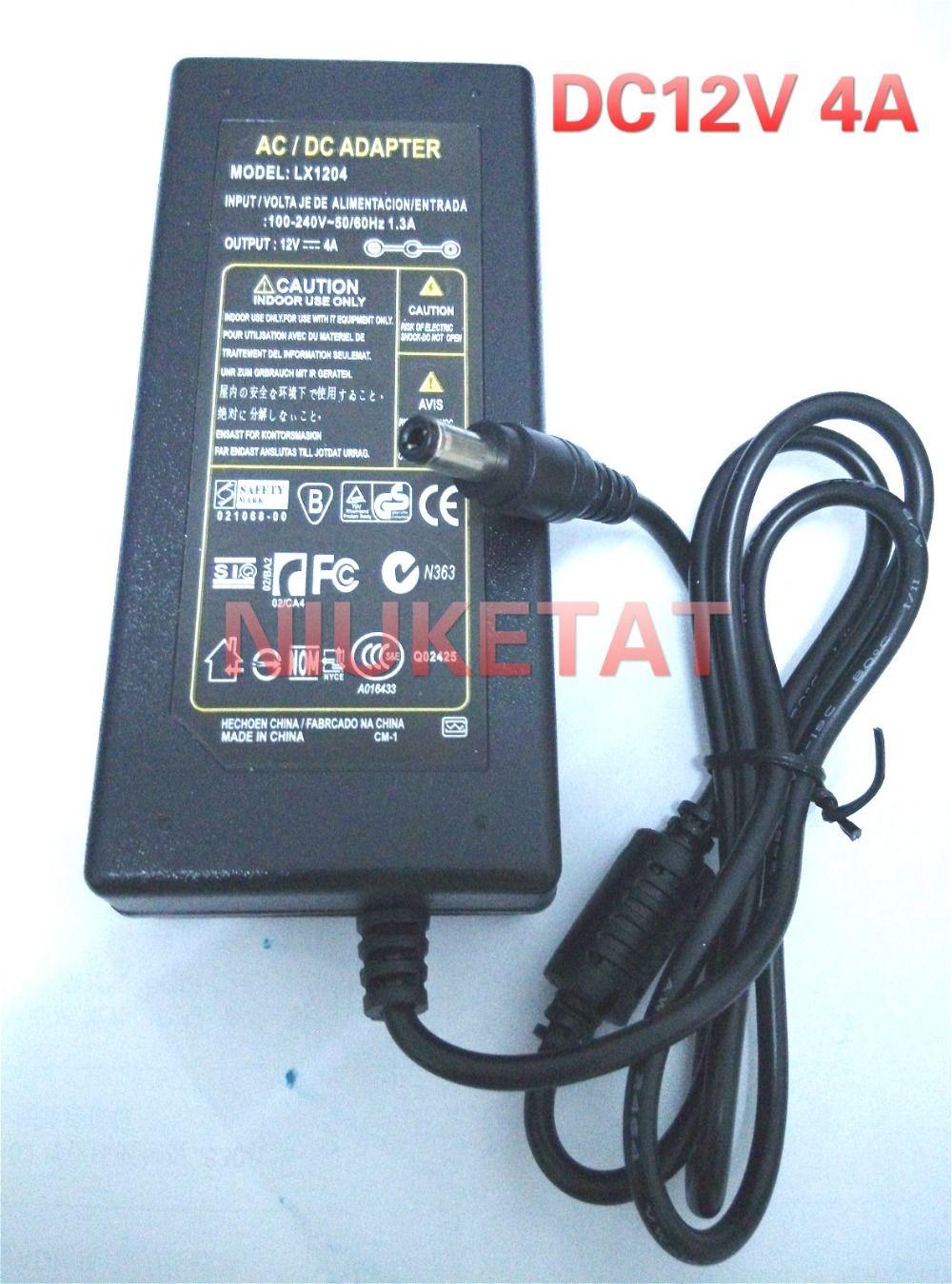 DC 12 V 4A AC 100-240 V 12V4A LED lumière puissance adaptateur LED Puissance fournir Adaptateur lecteur pour RGB LED bande 5050 3528 2835 Sans ligne