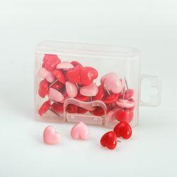 Tutu corazón forma 50 piezas plástico calidad corcho seguridad color push pins thumbtack Oficina escuela accesorios suministros H0001