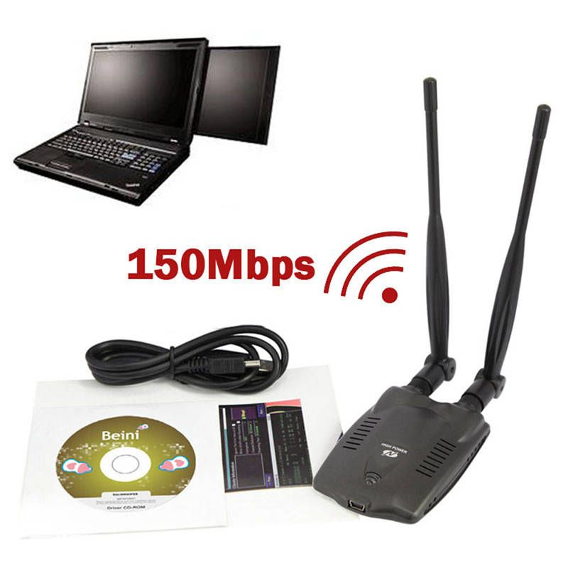 Original 3000mW PC Wireless Access Point Usb Wifi Adapter BT-N9100 Beini Dual Antenna Ralink 3070 Network Card High <font><b>Power</b></font>