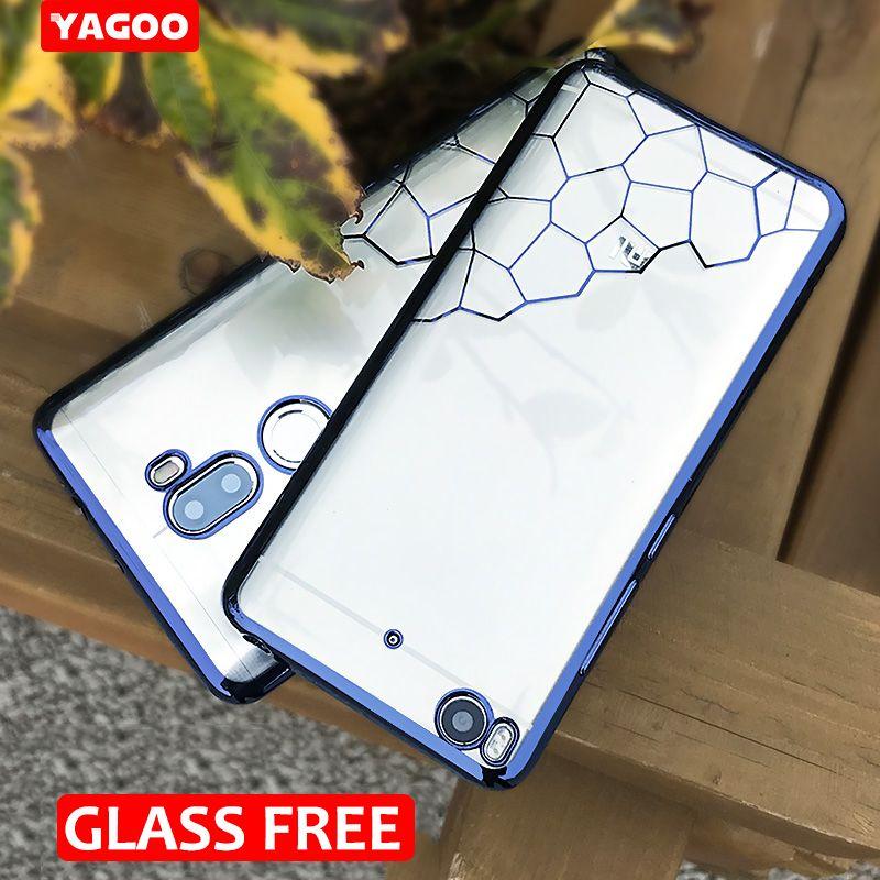 Pour xiaomi mi5s Cas pour xiaomi mi 5S couverture originale Yagoo Super Transparent souple TPU cas de couverture arrière avec protecteur d'écran gratuit