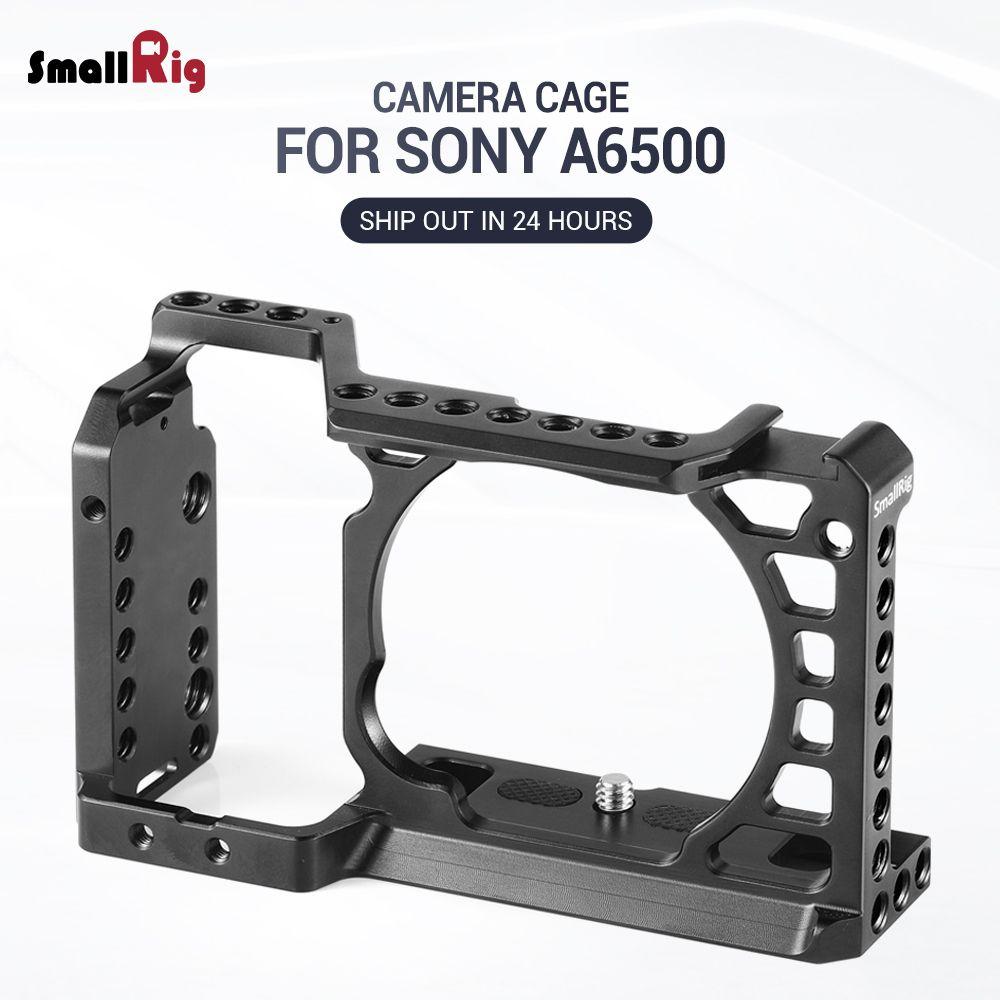 Cage de plate-forme d'appareil-photo de petit appareil-photo Dslr pour la Cage d'alliage d'aluminium d'appareil-photo de Sony A6500/A6300 avec la plaque suisse de QR d'arca (version de mise à niveau)-1889