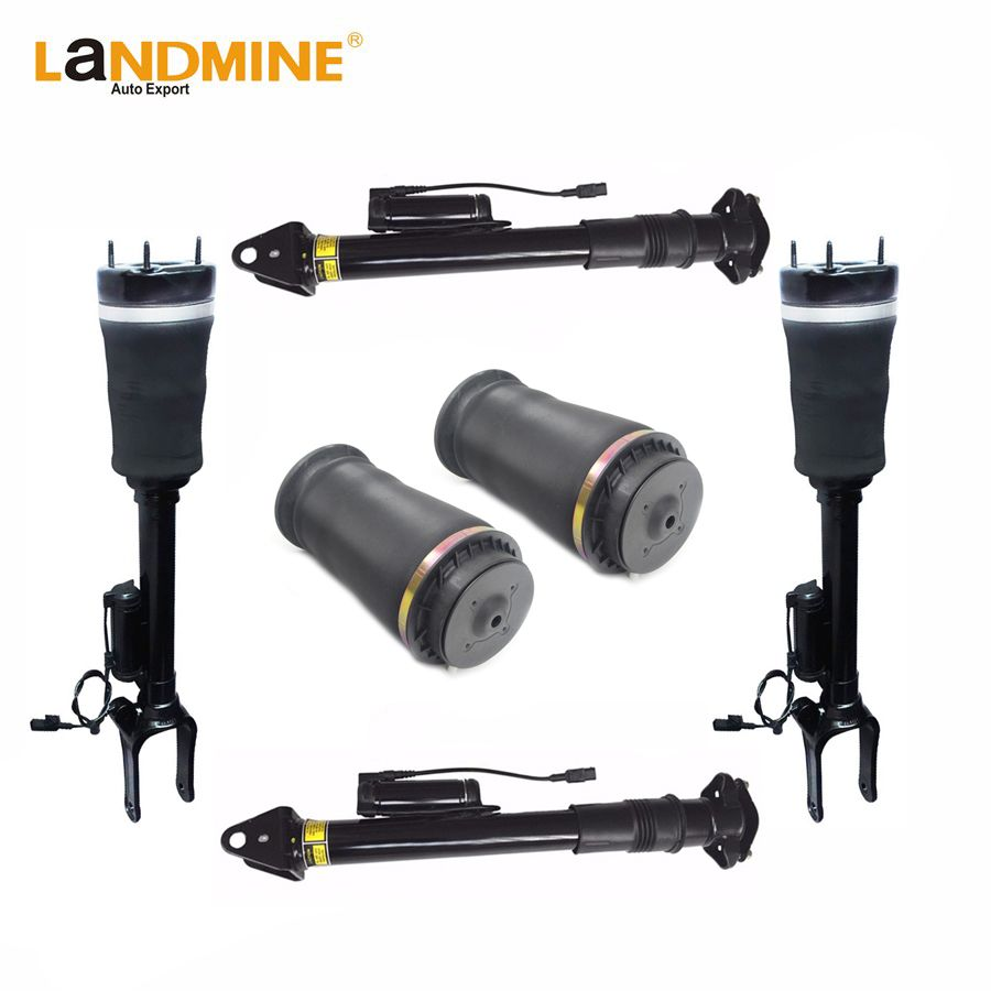 Free Shipping Mercedes W164 GL Front <font><b>2pcs</b></font> Rear Air Shock <font><b>2pcs</b></font> With ADS And <font><b>2pcs</b></font> Air Spring 1643204613 1643203031 1643201025