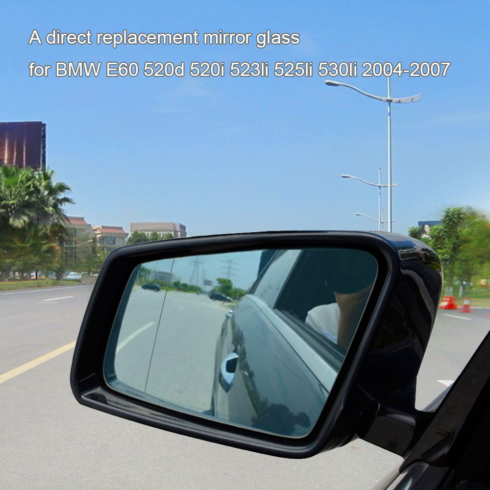 Right Side Door Wing Mirror Glass with Heated Function for BMW E60 520d 520i 523li 525li 530li 2004-2007