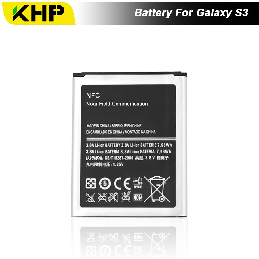 NEW 2017 100% Original KHP EB-L1G6LLU Phone Battery For Samsung Galaxy S3 I9300 I9305 I9308 Battery Replacement Mobile Battery