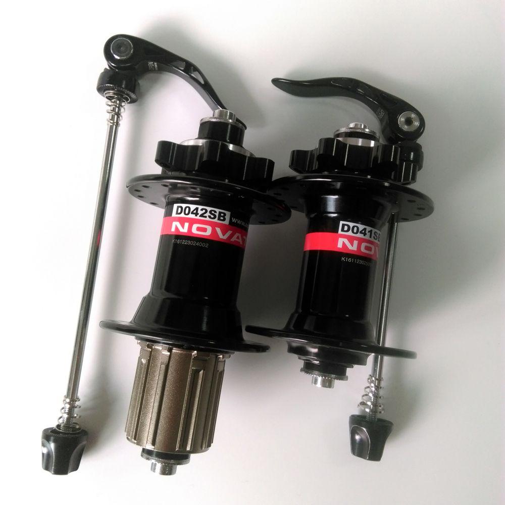 Novatec D041SB D042SB Disc Brake MTB Front Rear Bike Hub 4 Sealed Bearing 28 32 36 Holes 28h 32h 36h Red Black Bicycle Hubs